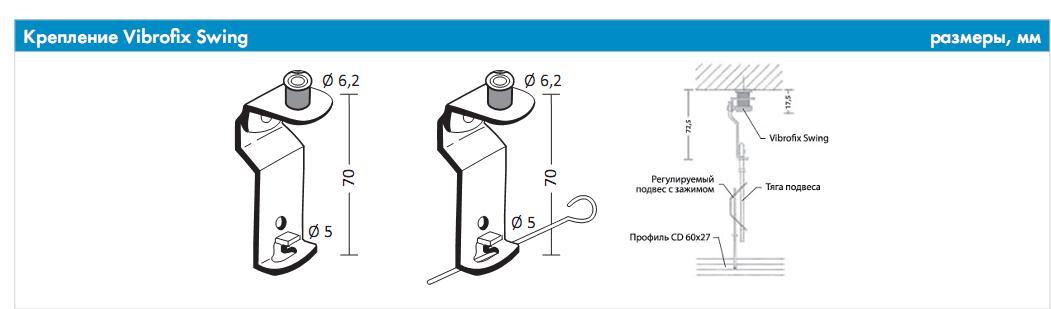 Кріплення для підвісних стель Vibrofix Swing